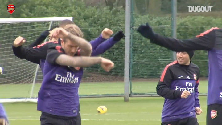 When David Beckham trained with Arsenal