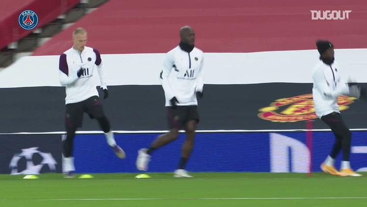 PSG treina em Old Trafford para duelo contra o Manchester United
