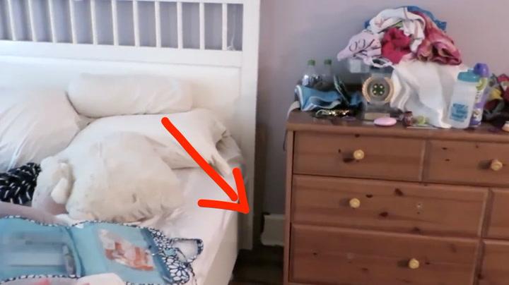 Fant ubuden gjest på soverommet