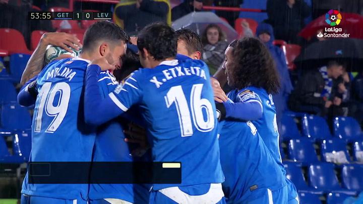 Gol de Cabrera (1-0) en el Getafe 4-0 Levante