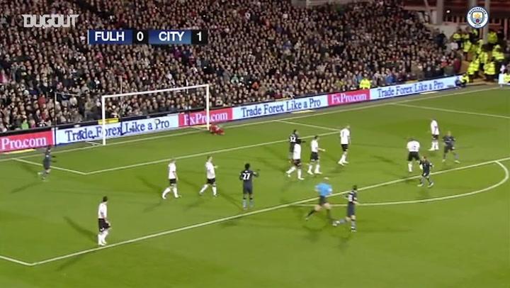 El golazo de Zabaleta ante el Fulham