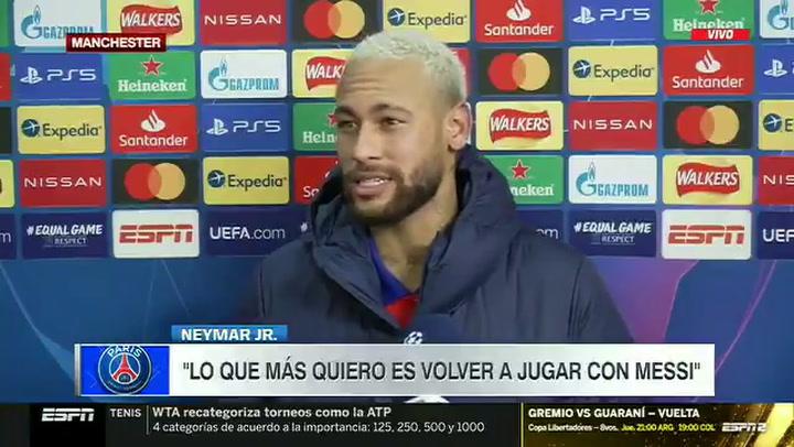 Neymar confesó querer jugar con Messi lo antes posible