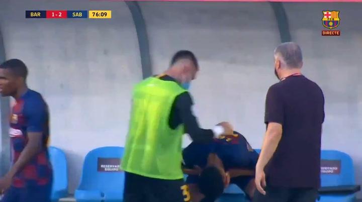 Araujo se fue lesionado y entre lágrimas