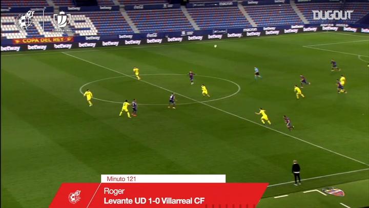 Roger Martí's 121st-minute winner to knock out Villarreal