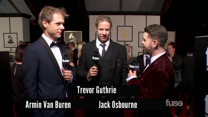 Armin Van Buuren & Trevor Guthrie on EDM at the GRAMMYs On The Red Carpet