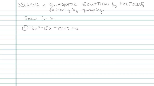 Solving Quadratic Equations by Factoring - Problem 9