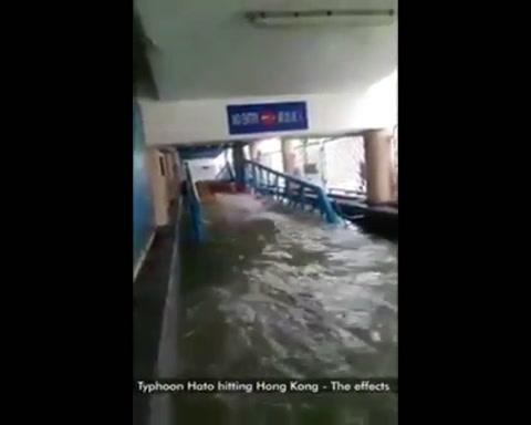 Impactantes imágenes del tifón Hato que ya dejó tres muertos en Macao y daños en Hong Kong