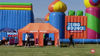 Worlds Largest Bounce House Comes To Vegas – Video
