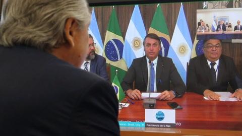 Presidentes de Argentina y Brasil mantuvieron diálogo por primera vez