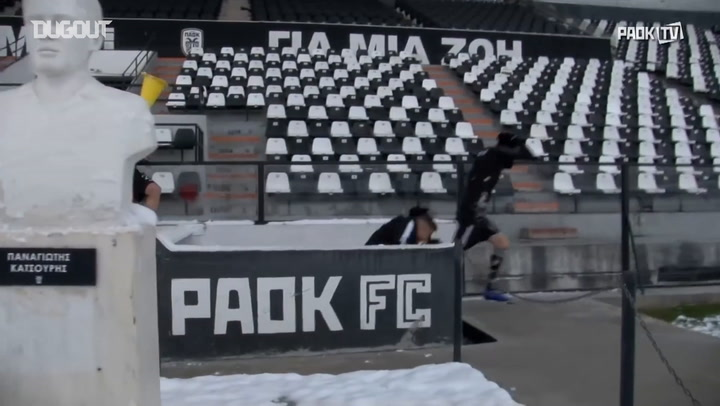 Fun In The Snow With PAOK FC