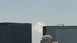 Thunderbirds fly over Las Vegas – VIDEO