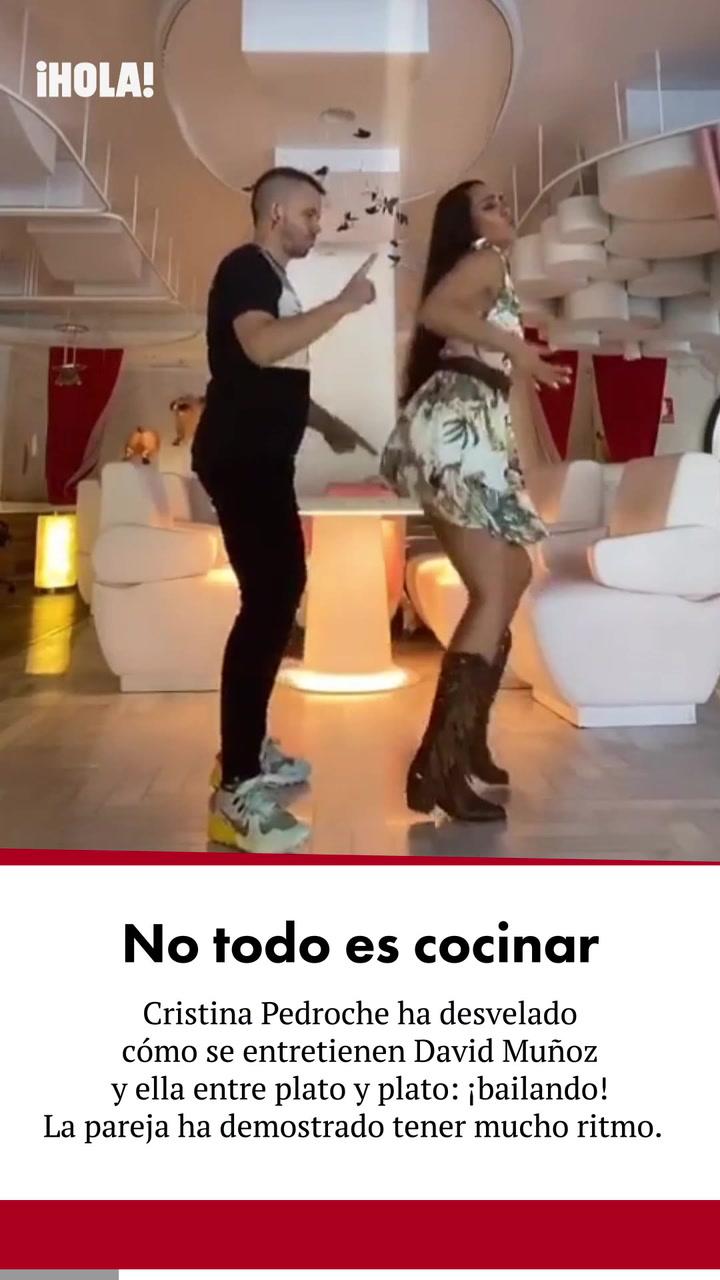 Así se entretienen David Muñoz y Cristina Pedroche entre plato y plato