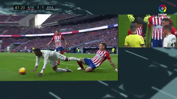 LaLiga: Atlético-Real Madrid. Gol de Sergio Ramos de penalti (1-2)