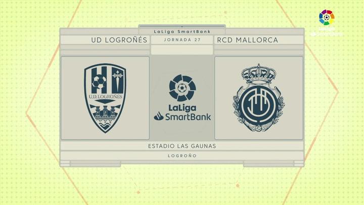 LaLiga SmartBank (J27): Resumen y gol del Logroñés 0-1 Mallorca