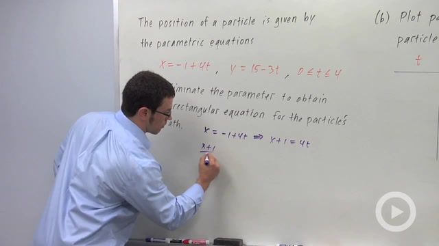 Parametric Equations and Motion - Problem 1