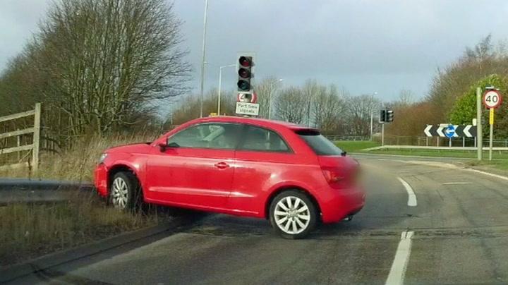 Stresset bilist ødelegger bilen etter generaltabbe