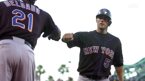 David Wright looks to settle an old Mets batting practice bet with Carlos Delgado