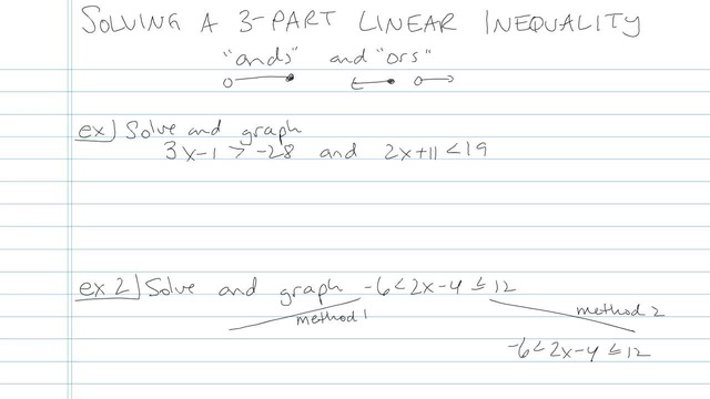 Solving a Three-part Linear Inequality - Problem 1