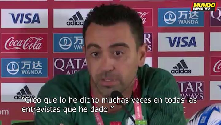 """Xavi: """"Rechacé una oferta del Barça. Es demasiado pronto"""""""