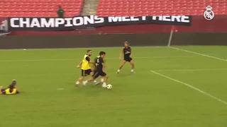 El golazo de Kubo en el entrenamiento del Real Madrid