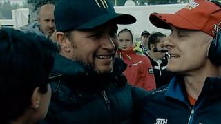 Her bryter Petter Solberg sammen foran sønnen