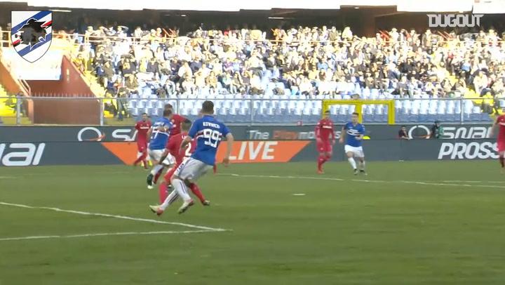 Quagliarella's hat-trick against Fiorentina