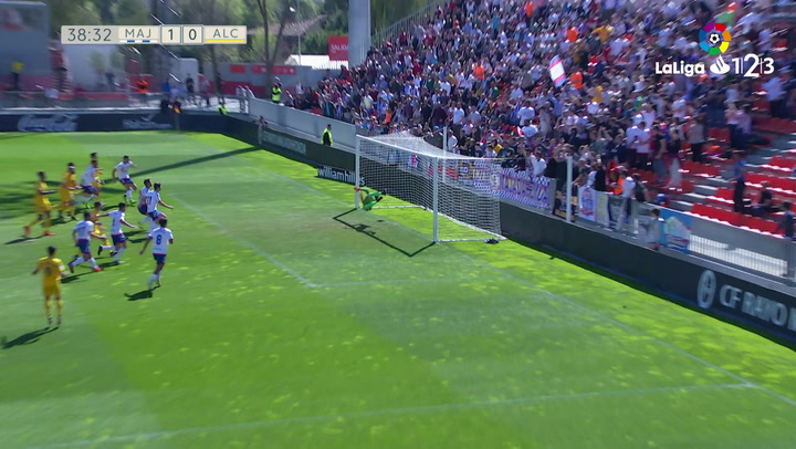 LaLiga 1|2|3: Rayo Majadahonda - Alcorcón (2-0). Gol de Benito (1-0)