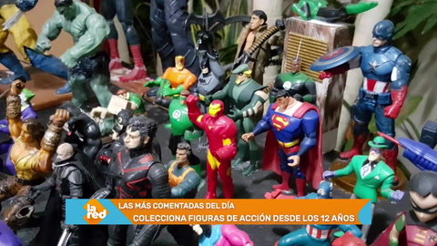 Hondureño colecciona figuras de acción de Marvel y DC Comics