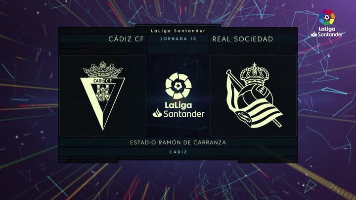 LaLiga (J10): Resumen y gol del Cádiz 0-1 Real Sociedad