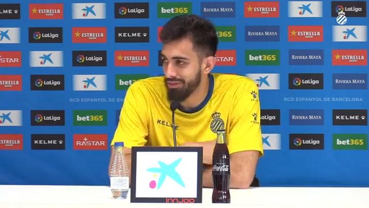 La rueda de prensa de Borja Iglesias (Espanyol)