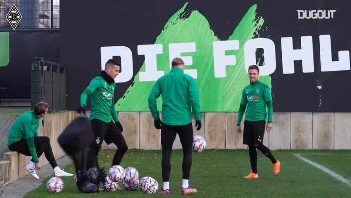 Borussia Mönchengladbach train before facing Shakhtar Donetsk