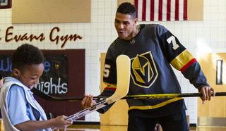 Golden Knights Reaves, McNabb host hockey clinic – Video