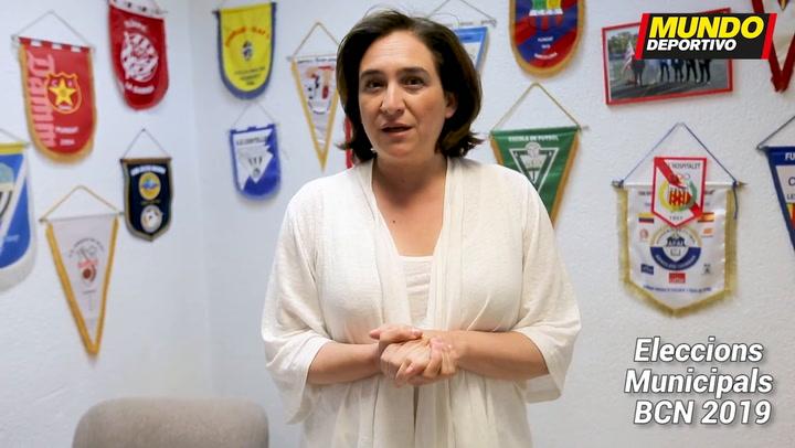 Ada Colau, candidato por BComú a la alcaldia de Barcelona, nos explica su programa deportivo