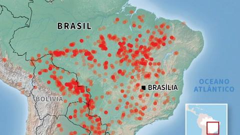 Polémica en Brasil por devastadores incendios en la Amazonía