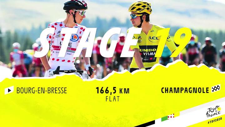 Perfil de la etapa 19 del Tour, Bourg-en-Bresse - Champagnole, de 166,5 kms.