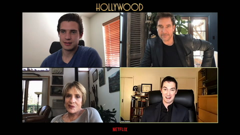 David Corenswet and Patti LuPone try to get Dylan McDermott to show off his undies