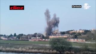 Explota una bomba alemana de la Segunda Guerra Mundial en Inglaterra 80 años después