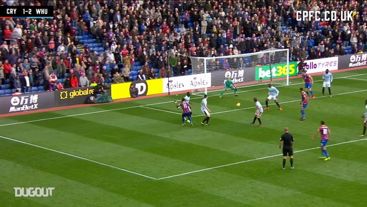 Wilfried Zaha's 97th minute equaliser vs West Ham United