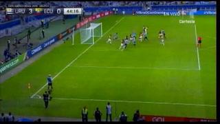 Luis Suárez anota el tercero ante Ecuador en el Mineirão
