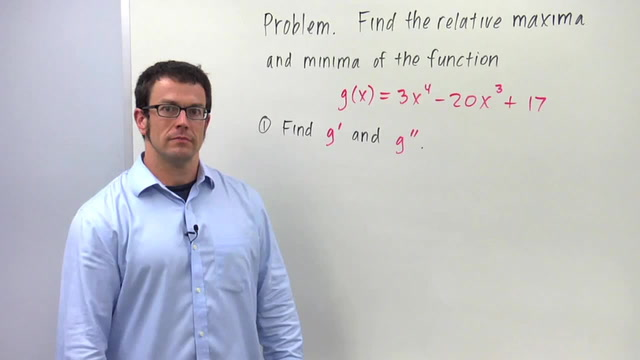The Second Derivative Test for Relative Maximum and Minimum - Problem 1