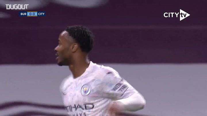 Sterling double helps Manchester City down Burnley in Carabao Cup