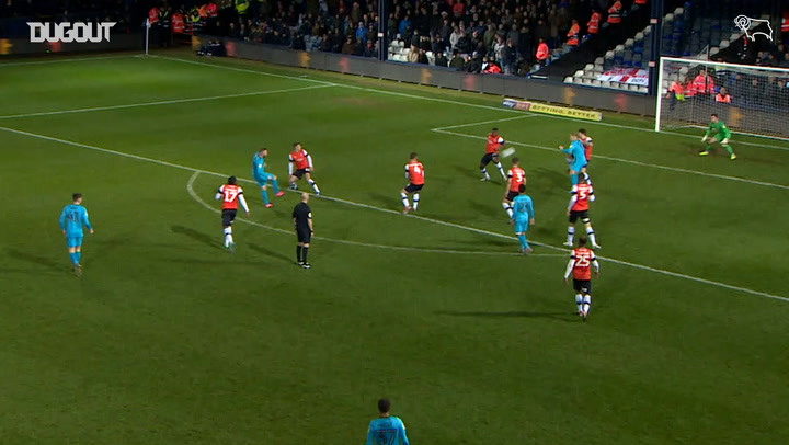 Wayne Rooney's first Derby County goal