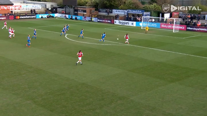 Caitlin Foord's first Arsenal Womens goal