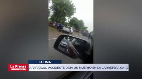 Aparatoso accidente deja un muerto a la altura de la entrada a La Lima, Cortés