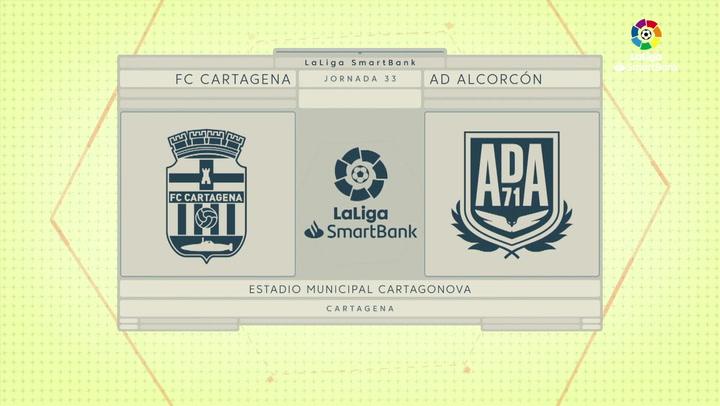 LaLiga SmartBank (J33): Resumen y goles del Cartagena 2-1 Alcorcón