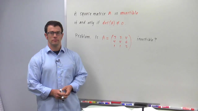 Invertible Square Matrices and Determinants - Problem 1
