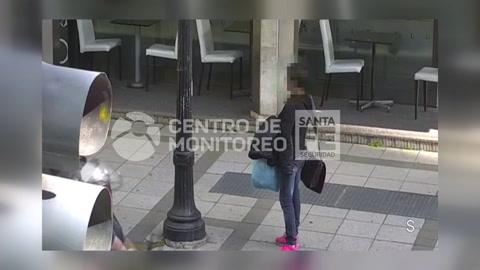 Un video muestra cómo atraparon a tres mecheras en el microcentro