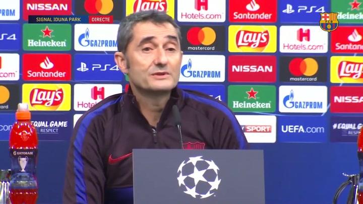 Valverde aclara la evolución de la lesión de Messi