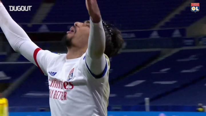Lucas Paqueta's first goal at Olympique Lyonnais