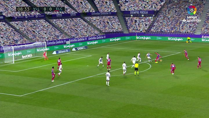 Gol de Josan (0-1) en el Valladolid 2-2 Elche